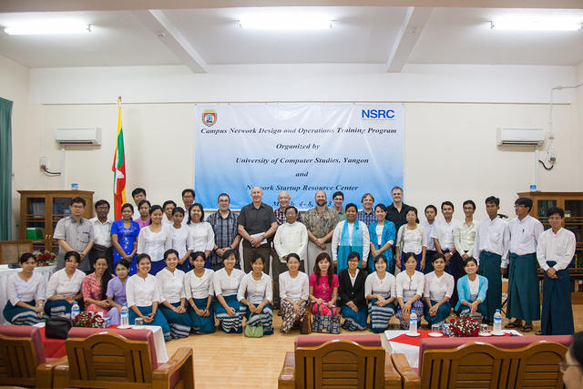 Group Photo during the Campus Network Design and Operations Training Workshop Myanmar, 2013